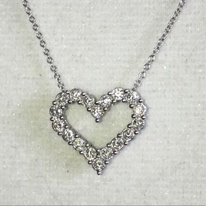 Jewelry - 14KT White Gold 1/2CTW Diamond Heart Necklace ❤️